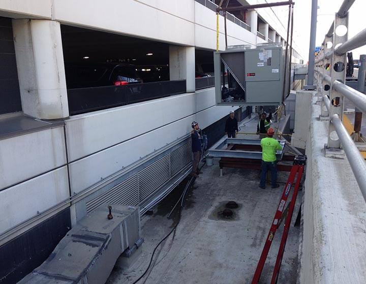 HVAC installation and renovation at Detroit Metro Airport.