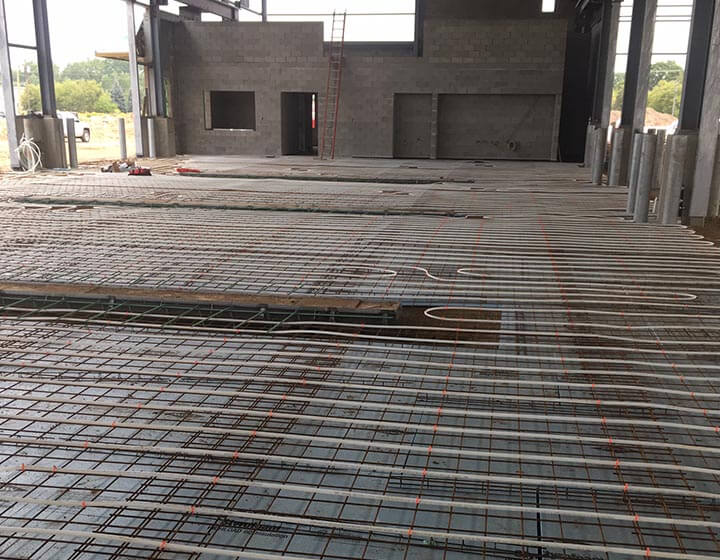 radiant floor heating piping