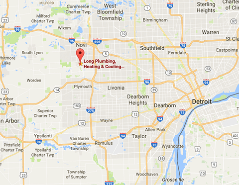 Map of Detroit Area and Long Companies Location