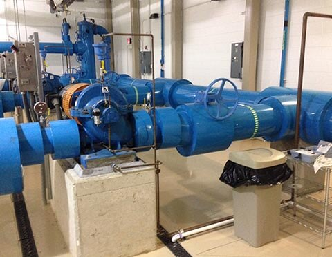 Pump and piping installation